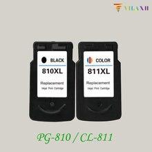 цены Vilaxh PG-810 CL-811 Ink Cartridge For Canon PG810 CL811 PIXMA iP2770 iP2772 MX328 MX338 MX347 MX357 MP237 MP245 MP258 Printer