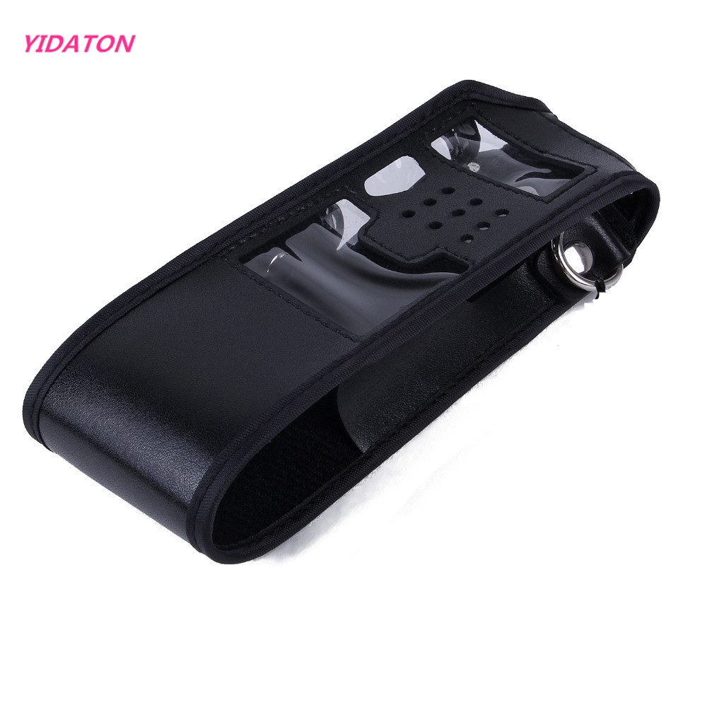 YIDATON Extended Leather Soft Case Holster for Baofeng UV 5R Two Way Radio FM TYT TH UVF9 TH F8 TH UVF9D Walkie Talkie UV 5R-in Walkie Talkie from Cellphones & Telecommunications