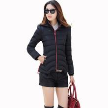 2016 New Winter Jacket Women Down Cotton Short Coat Casual Hooded Lady Parka Female Overcoat  Abrigos De Femininos Women Clothes