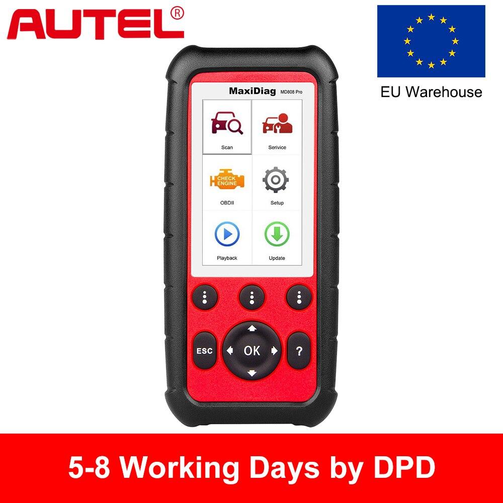 Autel MD808 PRO OBD2 Scanner Car Ferramenta de Diagnóstico Para O Motor, Transmissão, SRS E ABS Com EPB, reinício do óleo, DPF, SAS, BMS Auto Scanner