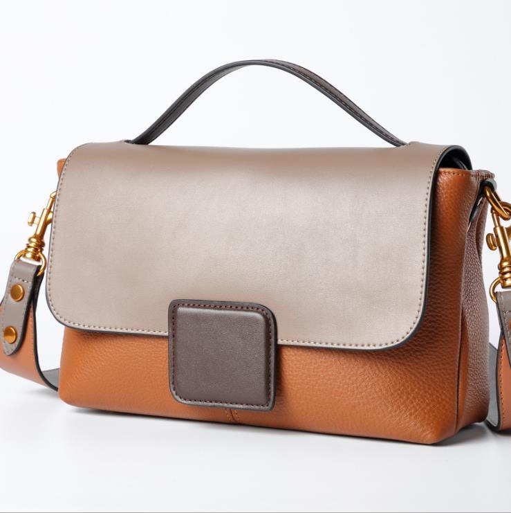 100% 本革の販売ロット 2019 新ファッショナブルなベストラップ層牛革シングルショルダーバッグハンドバッグを着用カジュアル革  グループ上の スーツケース & バッグ からの トップハンドルバッグ の中 1