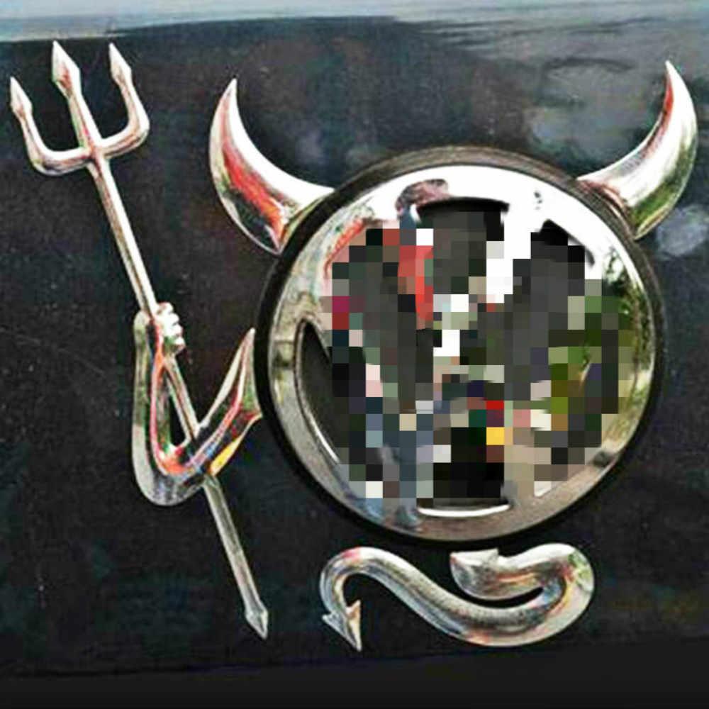 Etie Araba Styling için Komik 3D Şeytan Araba Çıkartmaları Kuyruk Logosu Çıkartması Volkswagen Skoda Nissan Benz Toyota Chevrolet Cruze bmw Opel