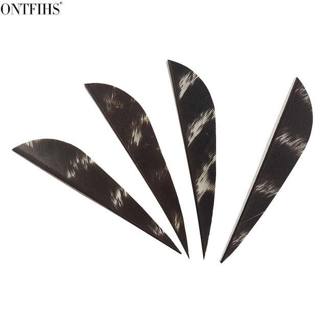 50 Pcs 2.5inch Parabolic Archery Fletches Feather Natural Turkey Feathers Arrow fletching For Hunting Long Bow