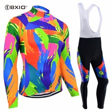 BXIO Women Cycling Sets MTB Ropa Ciclismo Mujer Pro Mountain Bike Bicicleta Long Sleeve Cycling Clothing