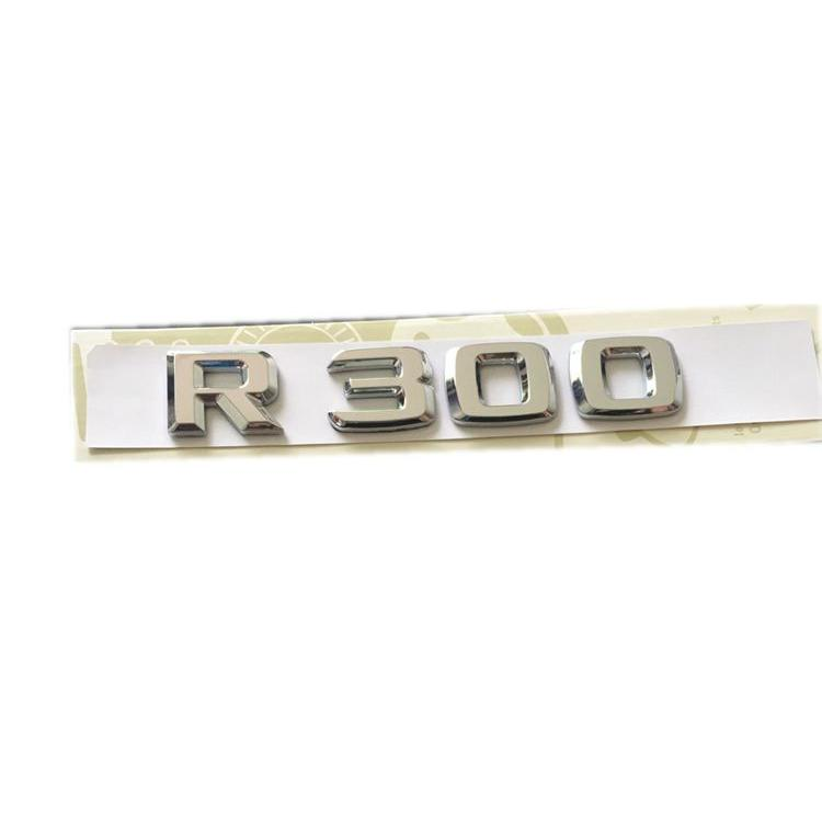 ABS R300 R320 R350 R400 R500 Number and Letters Chrome Badge Emblem Sticker