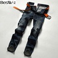 Beswlz Brand Men Denim Jeans Straight Slim Male Cowboy Jeans Pants Fashion Classical Casual Style Men Black Jeans 9520