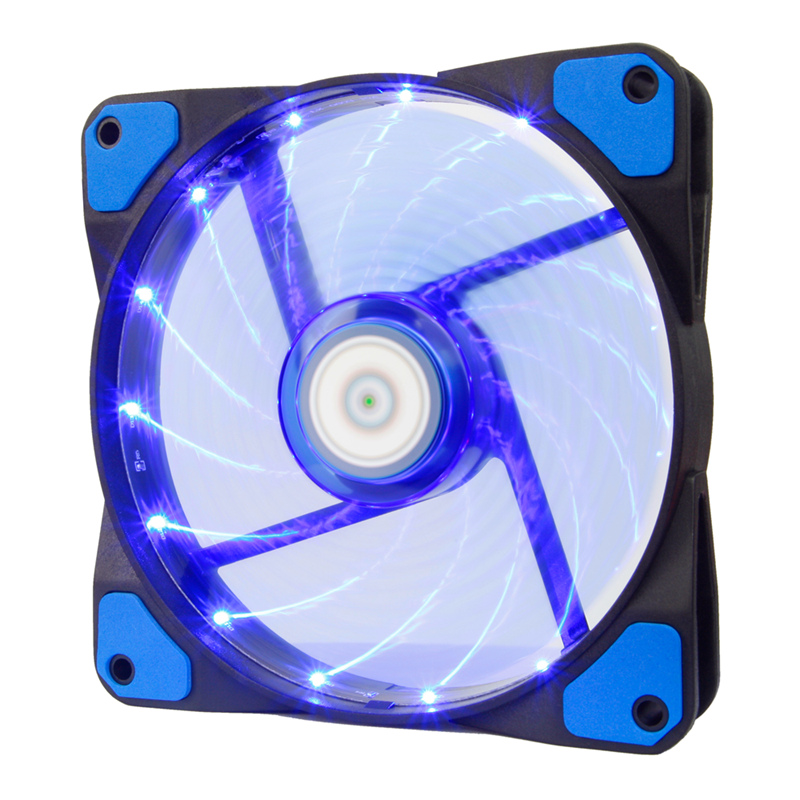 ALSEYE 120mm LED Cooler Fan for Water Cooler Computer Fan Radiator 12V 3-4pin 1300RPM Computer Case Fan LED x 15 pieces
