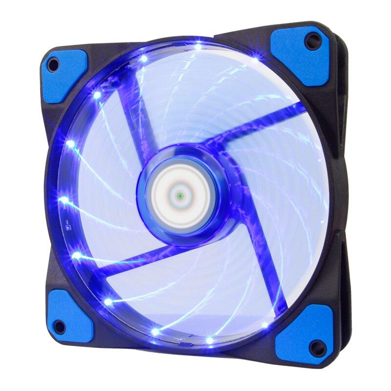 ALSEYE 120mm LED Lüfter für Wasserkühler Computer-Fan kühler 12 V 3-4pin 1300 RPM Computer Gehäuselüfter GEFÜHRT x 15 stück
