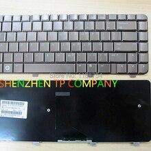 Бренд новая клавиатура для ноутбука hp павильон Pavilion DV4 DV4-1000 DV4-1100 US версия коричневый цвет;