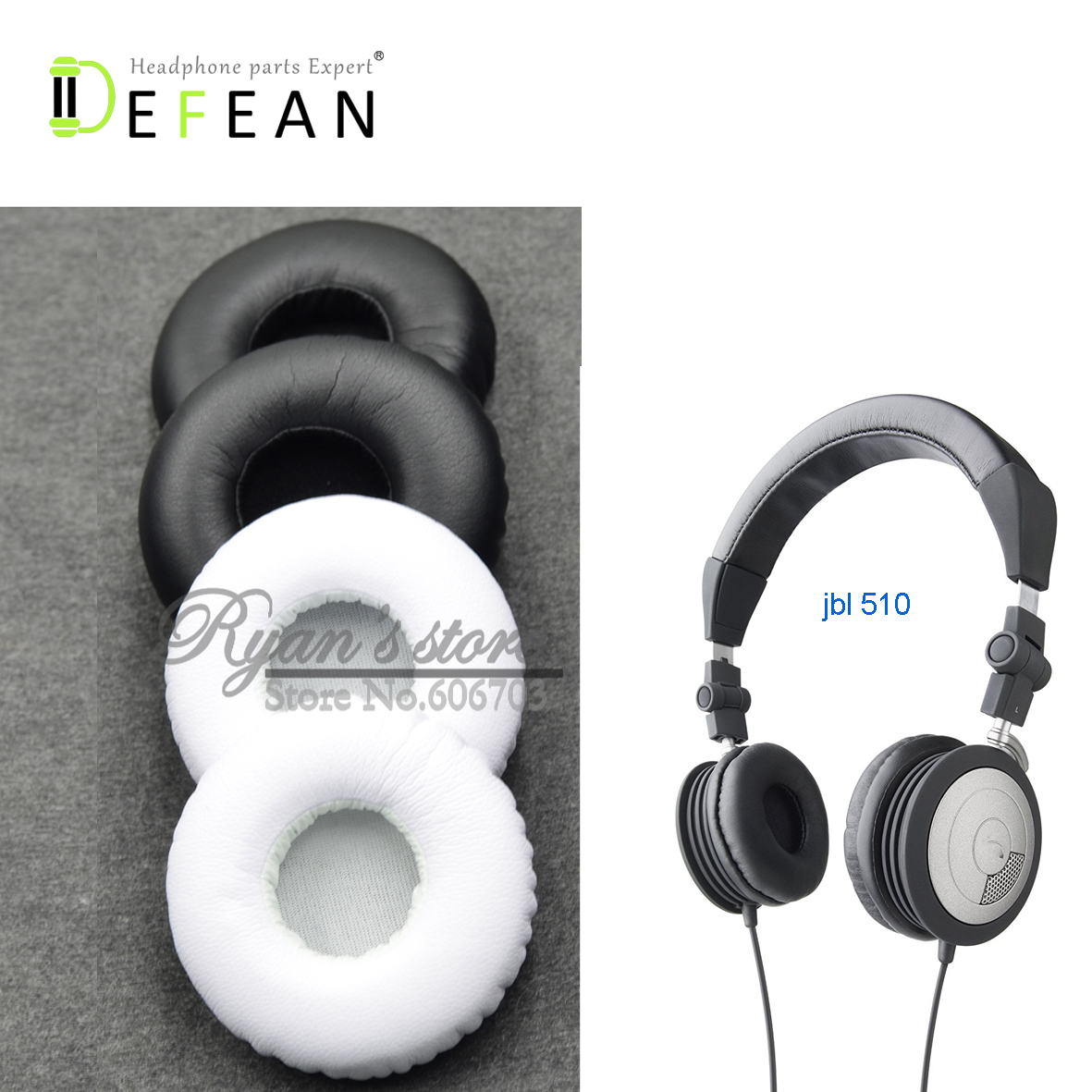 Defean Headphone Parts Hot Sale 52mm Black White Upgrade Cushion Ear Pads For Jbl Referance 410 510 Headphones Bluetooth Earphones Headphones Aliexpress