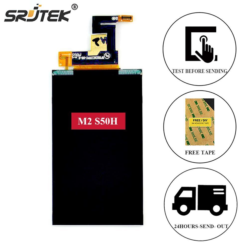 imágenes para Srjtek Para Sony Xperia M2 S50H D2303 D2302 D2305 D2306 4.8 ''Pantalla LCD Pantalla de Matriz de Interior Panel de la Pantalla LCD Lente Para Sony S50H