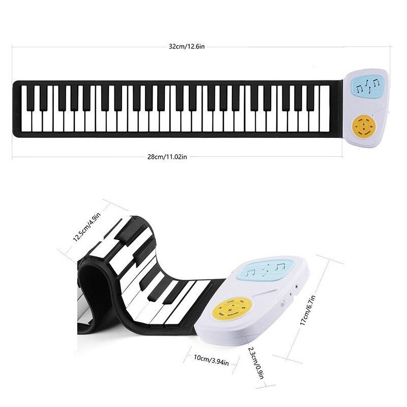 49-clé Enfants Musical Instrument Main Rouleau Piano Électronique Jouets Arc-En-Pratique Savent Que La Musique Loisirs Éducation Apprentissage Pianos - 5