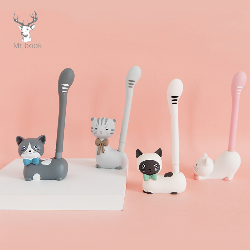 Cute Cat Animals Pens Holder Cartoon Pen Insert Decoration with Pen Students Supplies Gifts DIY Office Decor StationeryCute Cat Animals Pens Holder Cartoon Pen Insert Decoration with Pen Students Supplies Gifts DIY Office Decor Stationery