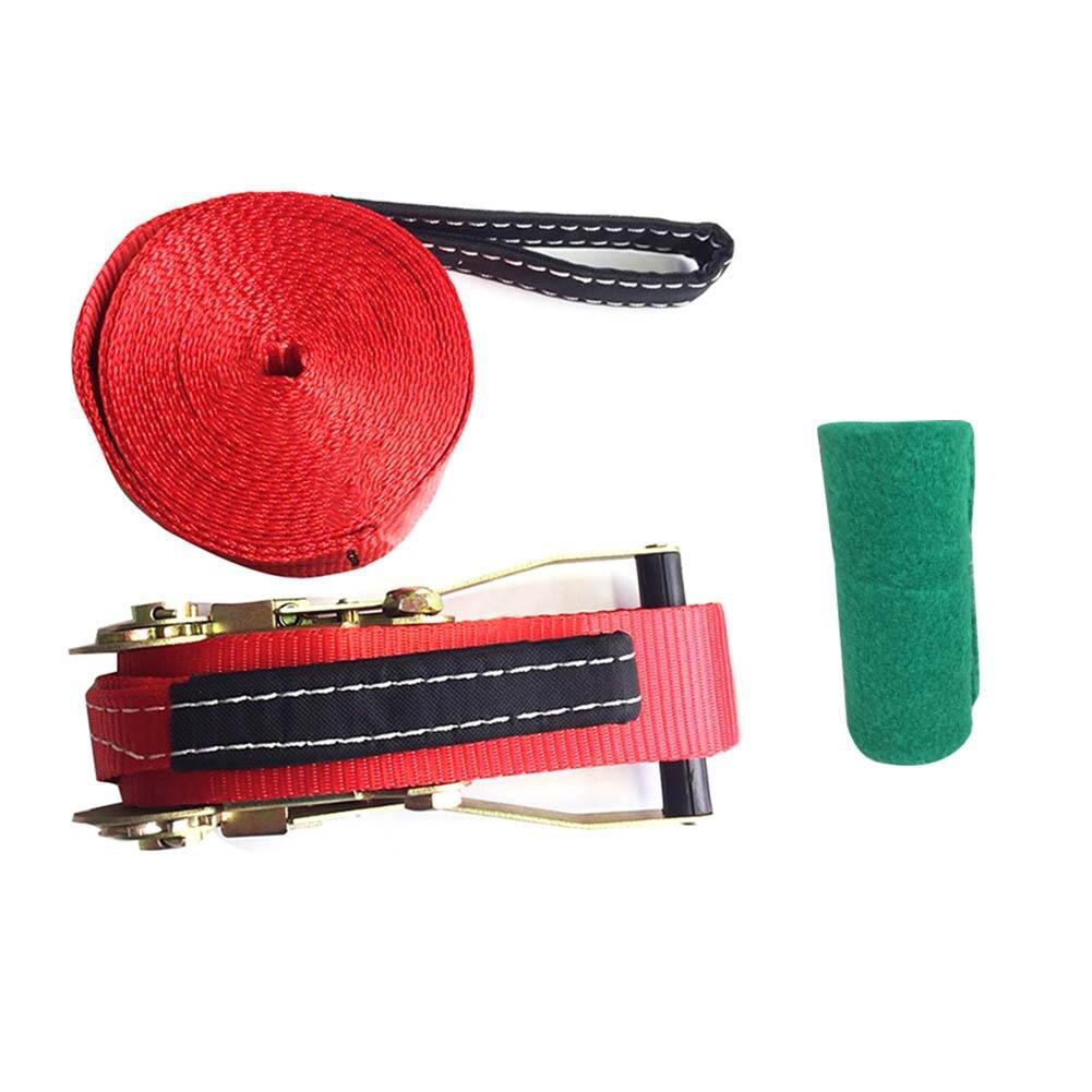 Slackline Kit 10*0.5 m équipement de Fitness en plein air ligne de Slack/tendeur à cliquet-améliorer les compétences d'équilibre et la force du noyau - 5