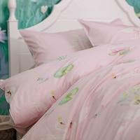 Милые принцесса лебедь beding набор подростков детская, две полный Плюшевые Хлопок мультфильм домашний текстиль простыней наволочка пододеял