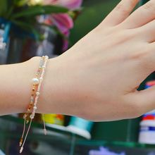 Cute Miyuki Bracelets For Women Pearl Bracelet Crystal Seed Beads Jewelry Multilayer Colors Charm Handmade Bracelet Gifts stylish multilayer faux pearl round lace bracelet for women