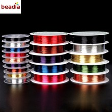 New Arrival Dia 0.3mm/0.4mm Random Mixed Colors 80-100m Alloy Copper Wire Crafts Beading Wire For Jewelry Findings(China)