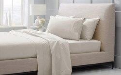 Набор постельных принадлежностей из 100% египетского хлопка 1600 TC Switzerland King size 2,1 м белого и бежевого цвета Комплект постельного белья по индив...