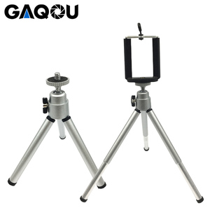 Image 2 - GAQOU Portable Mini Tripod For iPhone With Mobile Phone Holder Stand Flexible Tripods For Gopro Action Camera Bracket