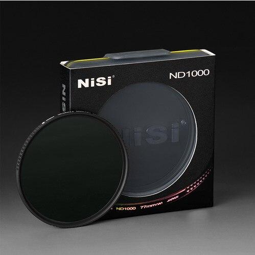 NiSi 77mm ND1000 Ultra Mince Densité Neutre Filtre 10 Arrêter pour REFLEX Numérique caméra ND 1000 77 82 30 67 72 58mm Mince Lentille Filtres