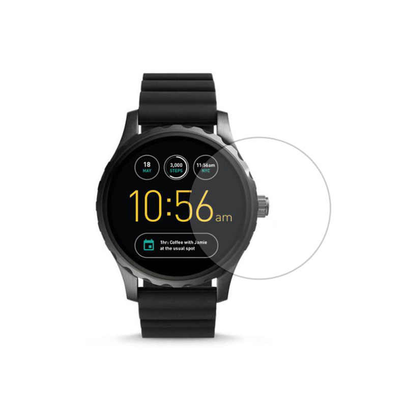 Tempered Glass Protective Film Ultra Clear Guard For Fossil Q Marshal Gen 2 Generation Watch Smartwatch Screen Protector Cover