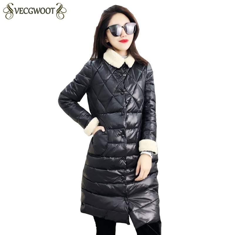 Coton Nouvelles Coréen Hiver Pr614 Confortable 2019 Creamy Mode White Longues Survêtement Veste Parkas Casual black Mince Moyen Manteau Femmes Chaud wRt75q4A