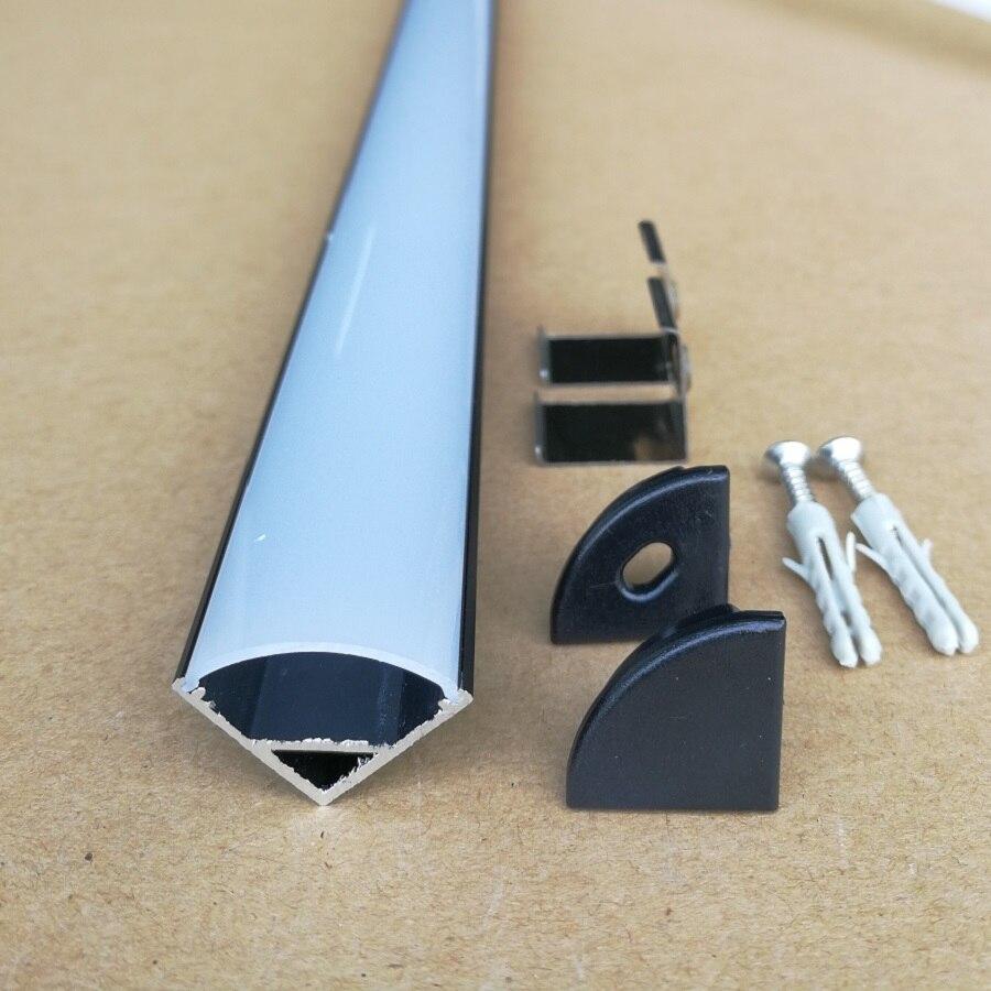 10pcs lot 80inch 2m led aluminium profile V corner mounted Led channel Alu for 5050 3528