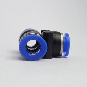 Image 3 - 100 sztuk darmowa wysyłka PE4 6 8 10 12MM pneumatyczne Tee 3 sposób montażu plastikowe złącze rurowe szybkozłącze