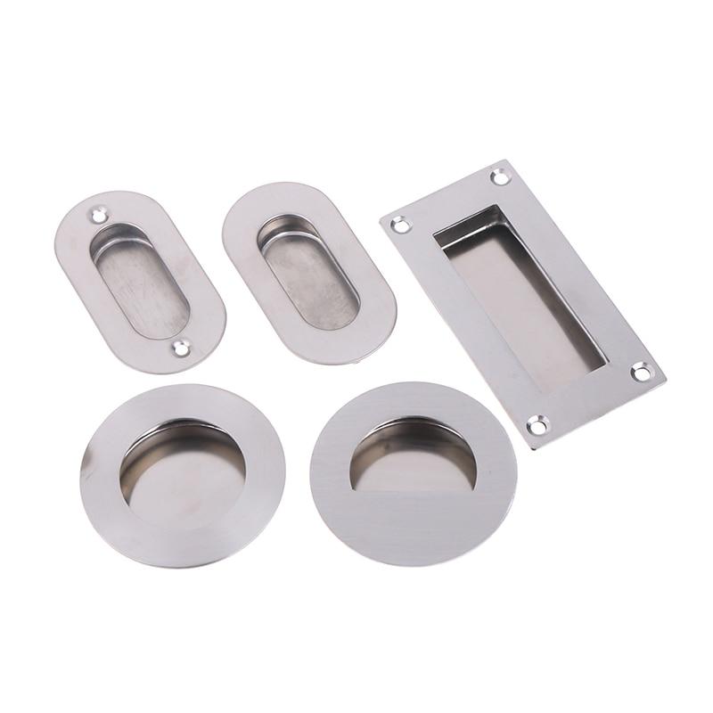 Modern Flush Embed Knobs Kitchen Cabinet Cupboard Door Drawer Nightstand Hidden Handles Wardrobe Sliding Recessed Pulls
