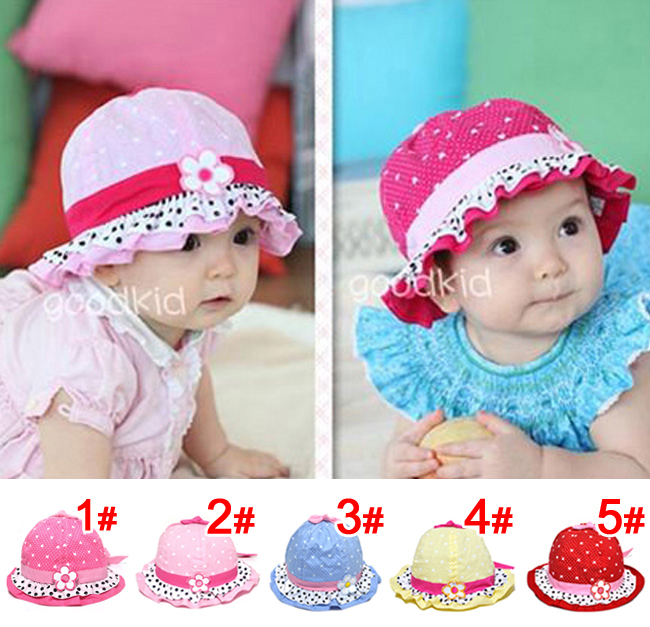 80cbb468377 wholesale 10 piece lot summer Baby Cap Lovely girl s gift baby hats  Children caps fashion infant sunhat kid s hat