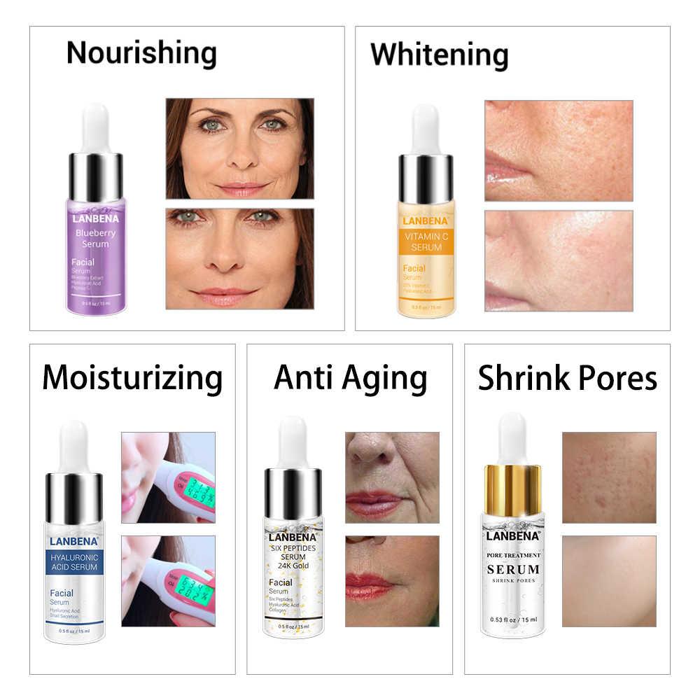 นาฬิกา LANBENA Hyaluronic Acid Serum Snail Essence ครีมสิว Skin Care Repair Whitening AntiAnging Winkles