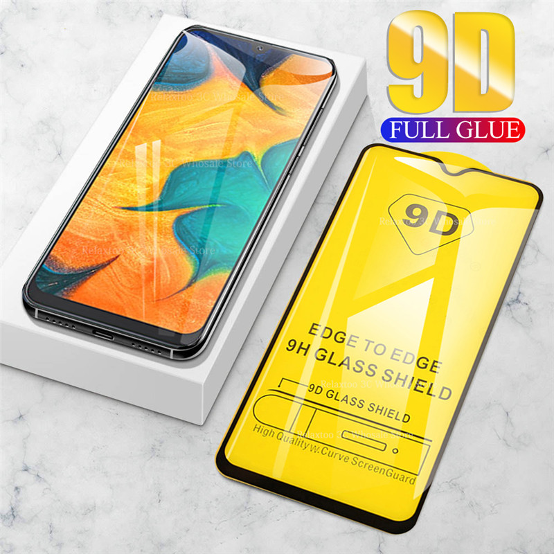 9D Full Glue Curved For <font><b>samsung</b></font> <font><b>a50</b></font> protective <font><b>glass</b></font> on the For galaxy a40 a70 a30 tempered glas galax a 30 40 50 70 safety Film image