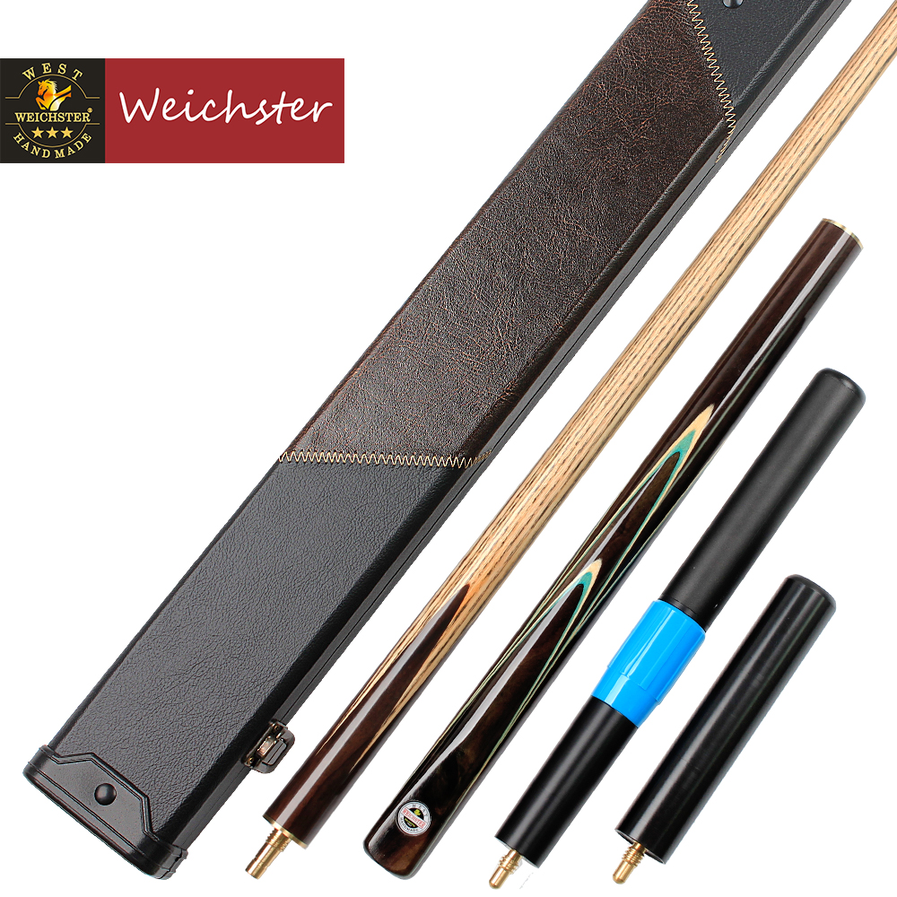 Weichster 3/4 Jointed Snooker Cue Handmade Ash Shaft RoseWood Pool Cues Case ExtensionWeichster 3/4 Jointed Snooker Cue Handmade Ash Shaft RoseWood Pool Cues Case Extension