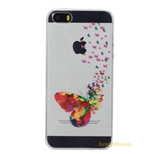 Divertido lindo flamingo fantasma case para apple iphone 5s suave cubierta de silicona tpu case coque fruta fundas capa párr