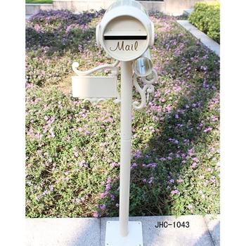 Wine Bucket Design Villa Garden Park Security Stand Floor Mailbox Postbox Metal Aluminium Outdoor Newspaper Letter Box 1043#