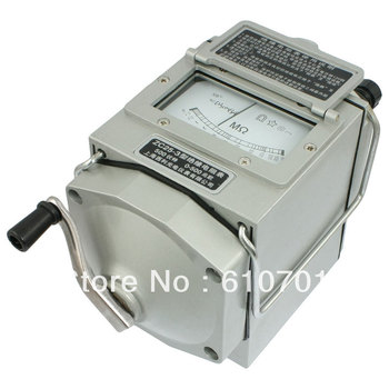 ZC25-3 Silver Tone Resistance Measurement Meter Tester Megger Megohmmeter 500V 120r/min Measure Range 0-500M High Change Rate