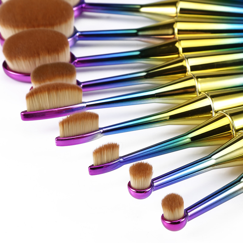 Professional-New-10pcs-Mermaid-Makeup-Brushes-Set-Toothbrush-Oval-Shape-Makeup-Brush-Tool-Kits-Synthetic-Hair