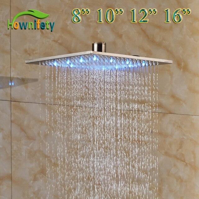 LED Light 8 Inch U0026 10 Inch U0026 12 Inch U0026 16 Inch Bathroom Rainfall Shower