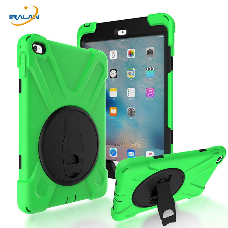 2017 Hot Kids Safe Heavy Duty Silicone Case For ipad mini 4 7.9 Hard PC Heavy Water Resistant Shockproof Cover shell+Stylus+film
