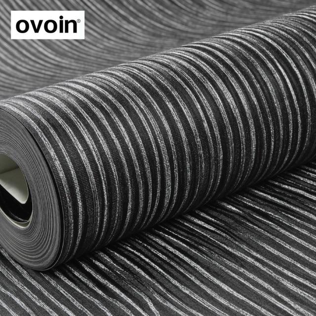 Texture Argent Raye Noir Papier Peint Rouleau Vinyle Papier Peint