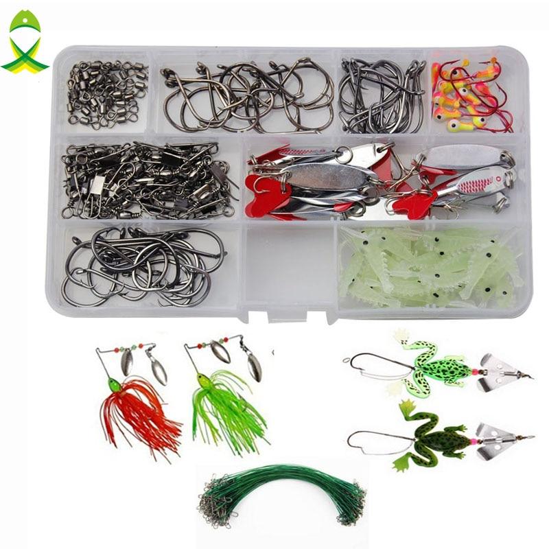 jsm 169 pcs lote kit incluindo sapo macio iscas iscas de pesca luminosa camarao iscas spinnerbaits