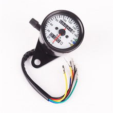 Modified motorcycle odometer / speedometer meter instrument retro double shell
