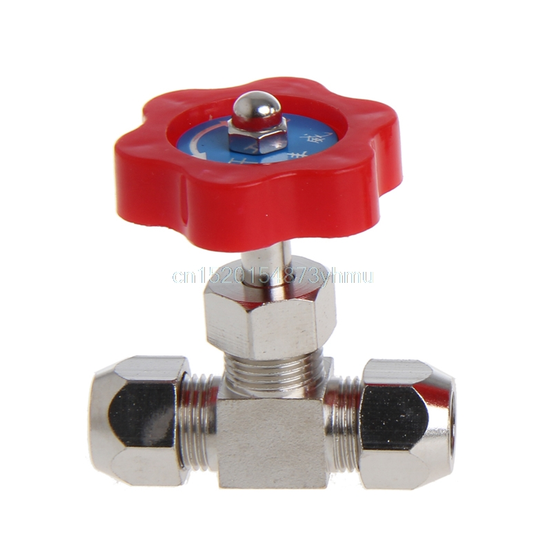 6mm/8mm/10mm Nickel-Plated Brass Plug Durable Tube Needle Valve OD For Swagelok #L057# New Hot