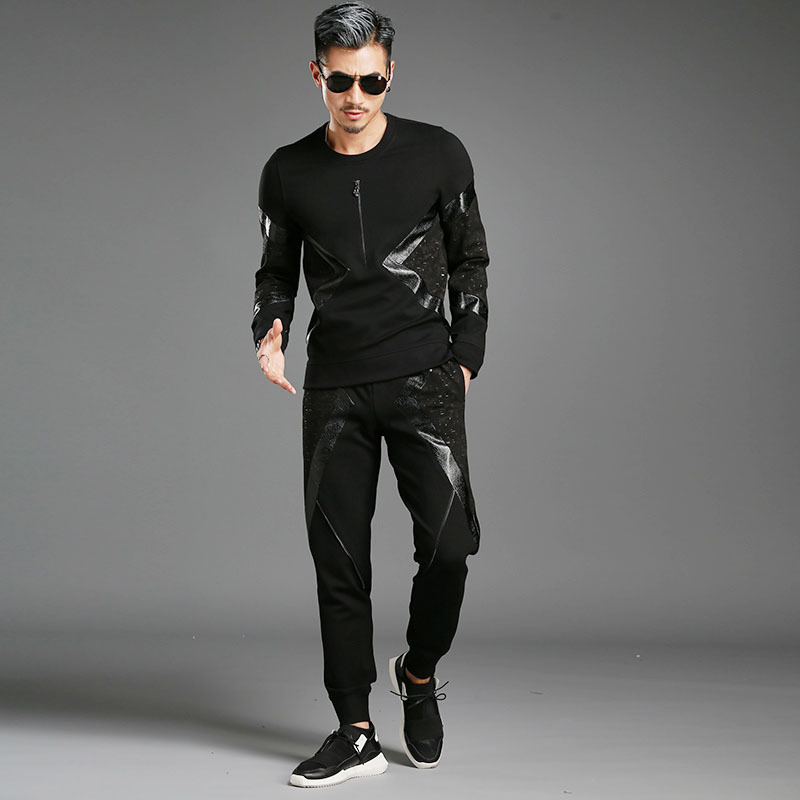 Moletom Masculino font b Men s b font High end Fashion Personality Sweatshirt font b Men