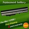 Portátil Batería BTY-S11 BTY-S12 de Msi X100 X100-G X100-L Para Msi E1210 U100 U90 Wind12 U200 U210 U230 Negro 6 células