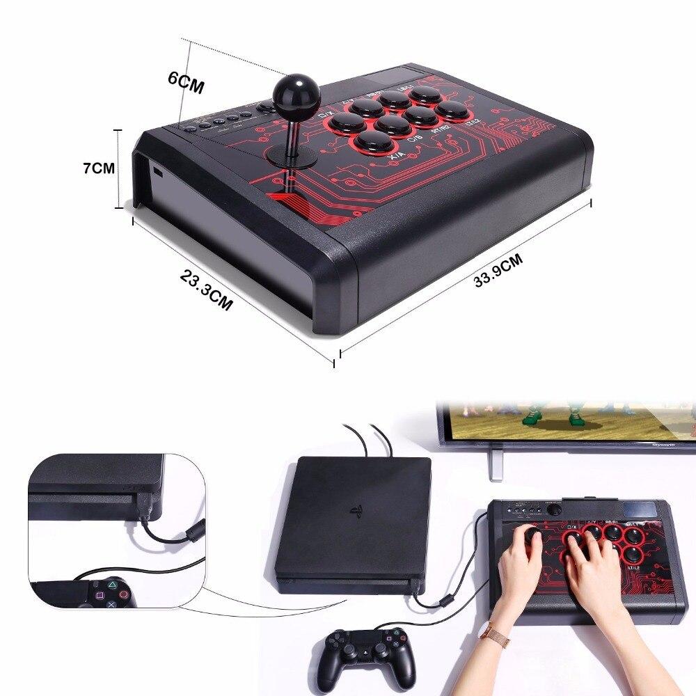 Manette de combat de bâton de combat d'arcade pour Sony Playstation 4 PS4/mince/Pro/PS3/XBOX ONE S/XBOX 360/PC/Android/commutateur - 2