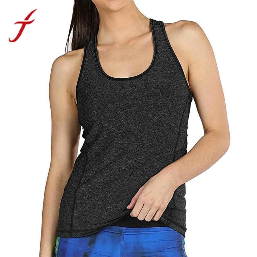 cf13888633275 FEITONG Women Ladies Fitness Tank Tops 2019 Summer Tops Activewear Workouts  Sportting Racerback Tank Tops Shirt
