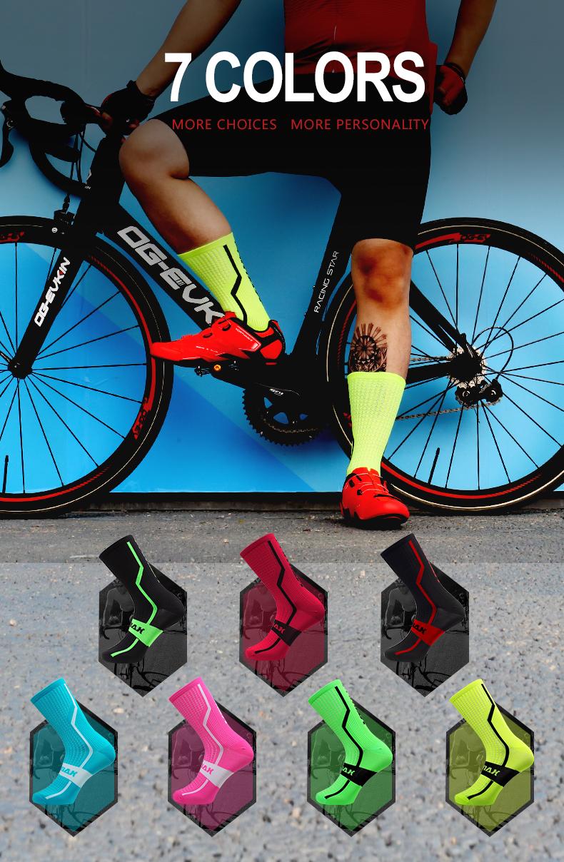 Phmax profissional meias de ciclismo 7 cores