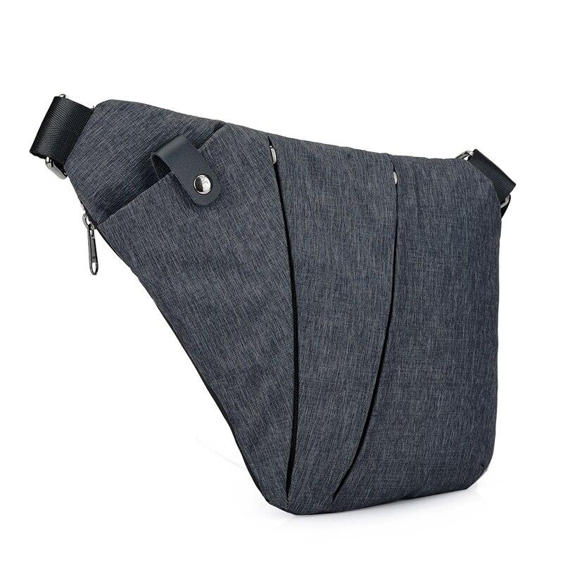 Unisex Anti-Theft MenS Messenger Bag Shoulder Bags Men Hidden Chest Pack Mens Retro Crossbody Bag Cool Motorcycle Sling Bag