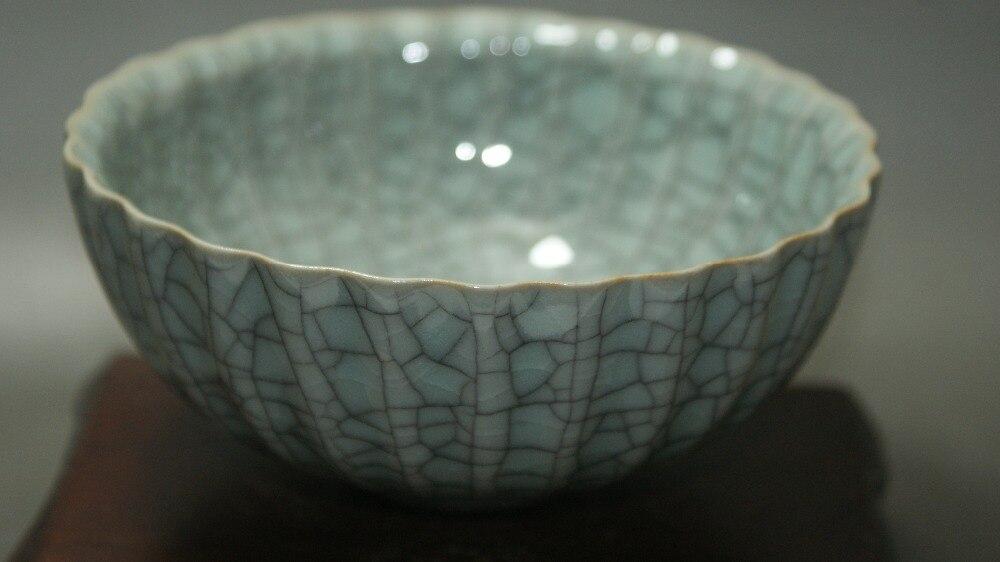 Fine China Official Kiln Crackle Glaze Ceramic Old Porcelain Bowl Antique Classic Ceramic Home